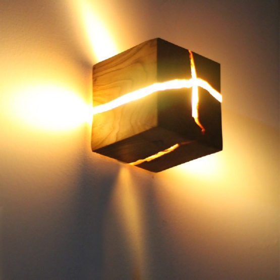 lampe murale cube carré en bois design luxe maison décoration salon so casa 2019